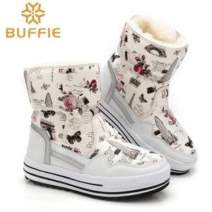 Image 4 - 부츠 여성 신발 겨울 여성 따뜻한 모피 방수 어퍼 플러스 크기 패션 비 슬립 단독 무료 배송 새로운 스타일 스노우 부팅