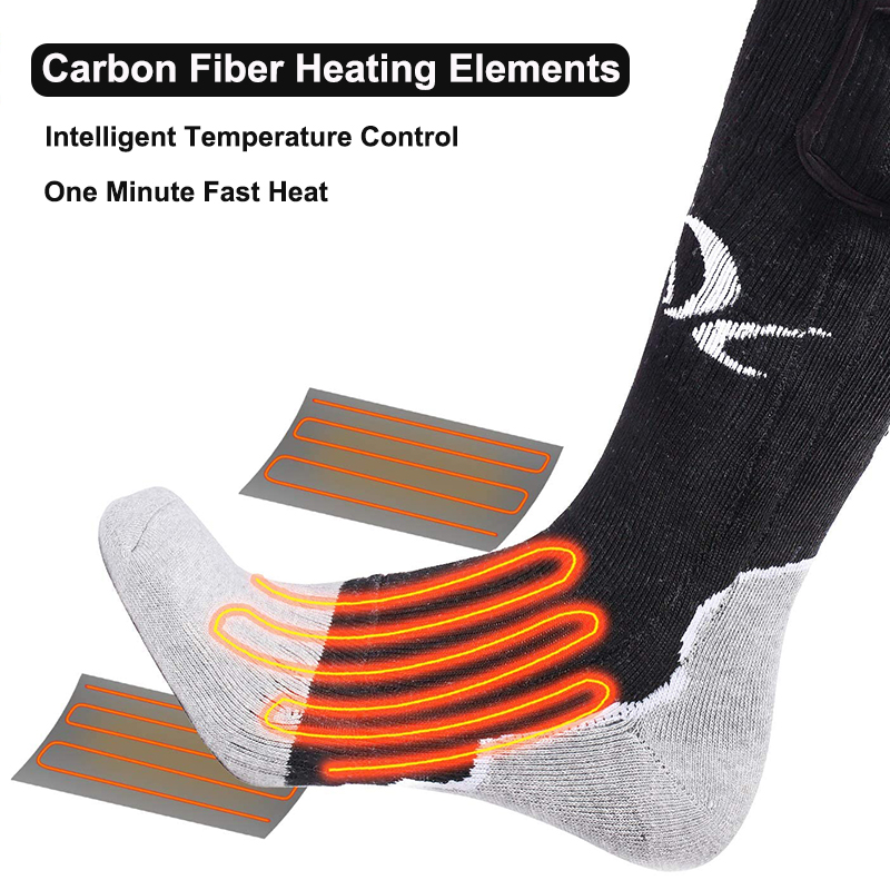 Aquecimento elétrico meias inverno meias térmicas bateria