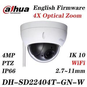 Камера Dahua на английском языке 4 МП, 4-мегапиксельная камера PTZ, обновленная прошивка на английском языке, с логотипом, Wi-Fi, для подключения к с...