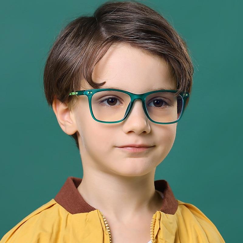 Children's Anti-blue Light Glasses Anti-blue Light Glasses Frame Anti-ultraviolet TR90 Material Flat Mirror