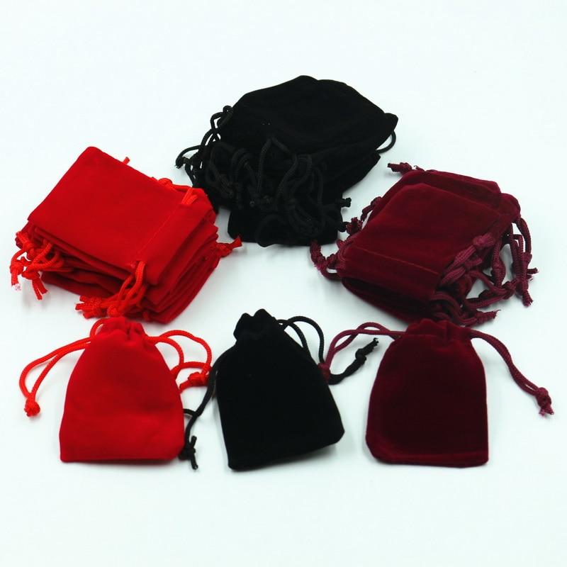 Custom Fashion Drawstring Jewelry Pouch Velvet Bag Small Velvet Gifts Bag