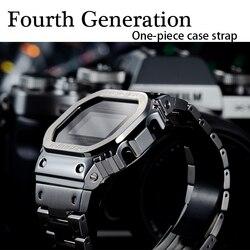 Ремешок для часов GW-B5600 316L корпус из нержавеющей стали чехол DW5600 GW-M5610 металлический ремешок для часов G-5600E четвертое поколение
