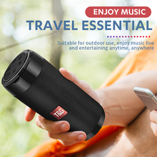 TG113C Column Portable Bluetooth Mini Speaker with FM Radio Waterproof Subwoofer Wireless Loundpeakers &Phone Holder 9 Colors