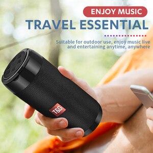 Image 3 - TG113C sütun taşınabilir Bluetooth Mini hoparlör FM radyo TF kart AUX kablosu kablosuz Loundpeakers ve telefon tutucu 9 renkler