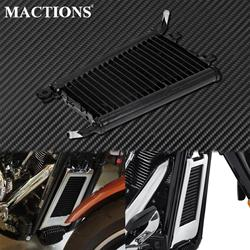 Motorcycle Black Oil Cooler Radiator For Harley Softail Slim FLSL Fat Bob FXFB Breakout Low Rider Heritage Classic FLHC 2018-Up