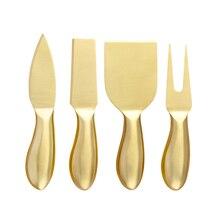 4 шт., сырный нож, набор из нержавеющей стали, масло, распорка сыра, резак, слайсер, вилка, для завтрака, кухни, полезные инструменты для приготовления пищи