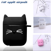 Silicone 3D Funny Wireless Bluetooth Earphones Case For Apple Airpods 1 2 TWS Earbud Earphone accessories Protective Cover(China)
