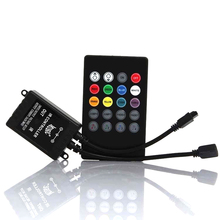 Remote-Sound-Sensor Ir-Controller 20-Music-Keys Led-Strip-Lights Black for 3528 5050/rgb