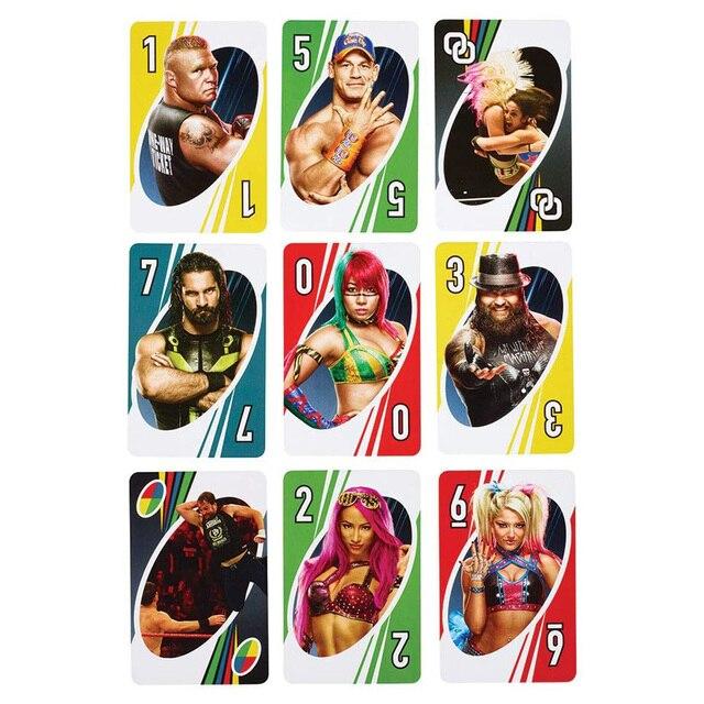 Mattel jogos uno wwe jogo de cartas família engraçado entretenimento jogo de tabuleiro poker crianças brinquedos jogando cartas
