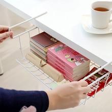 Home Multifunctional Storage Rack Kitchen Basket Under Cabinet Shelf Wire Organizer