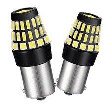 2x BA15S 1156 P21W Luzes diurnas Carro luzes de circulação Reversa DRL Para Audi A3 A4 A5 A6 A7 A8 B6 B8 C5 C6 C7 Q3 Q7 Q5 A1 A2 TT 12V