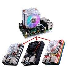 Elecrow 52Pi ICE-Tower Raspberry Pi Cooling Fan 40x40x10 Heat  Dissipation LED Light 5-Layer Case for Raspberry Pi 4B / 3B / 3B+