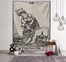 Large Retro Religious Tarot Card Print Hanging Tapestry Wall Decor Art Bed Living Room Decoration Party wall hanging art decor halloween night print tapestry