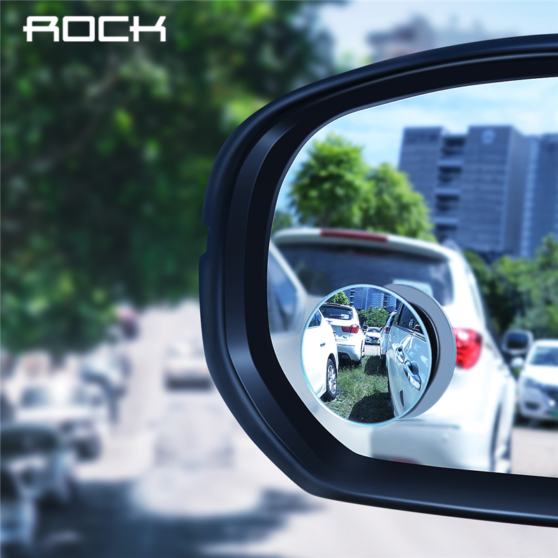 ROCK Frameless Convex Rear View Mirror Car 360 Degree HD Blind Spot Convex Mirror Rearview Waterproof Wide Angle Rimless Mirrors