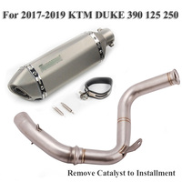 Motorcycle Exhaust System Connect Tube Mid Link Pipe Muffler Baffle DB Killer Silencer for KTM DUKE 125 250 390 RC390 2017 2019