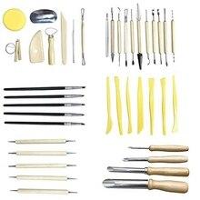 40 Pcs Professional Clay Pottery Sculpting Tools Set Wax Ceramics Diy Craft Modeling Carving Tool Kits
