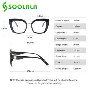 Image 5 - SOOLALA uroczy kot oko kwadratowe okulary do czytania z sercem ramiona kobiety nadwzroczność okulary do czytania + 1.0 1.25 1.5 1.75 do 4.0