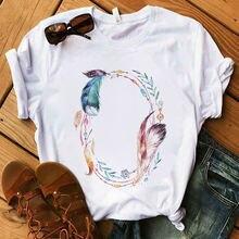 Футболки camisetas mujer лидер продаж летние женские серьги
