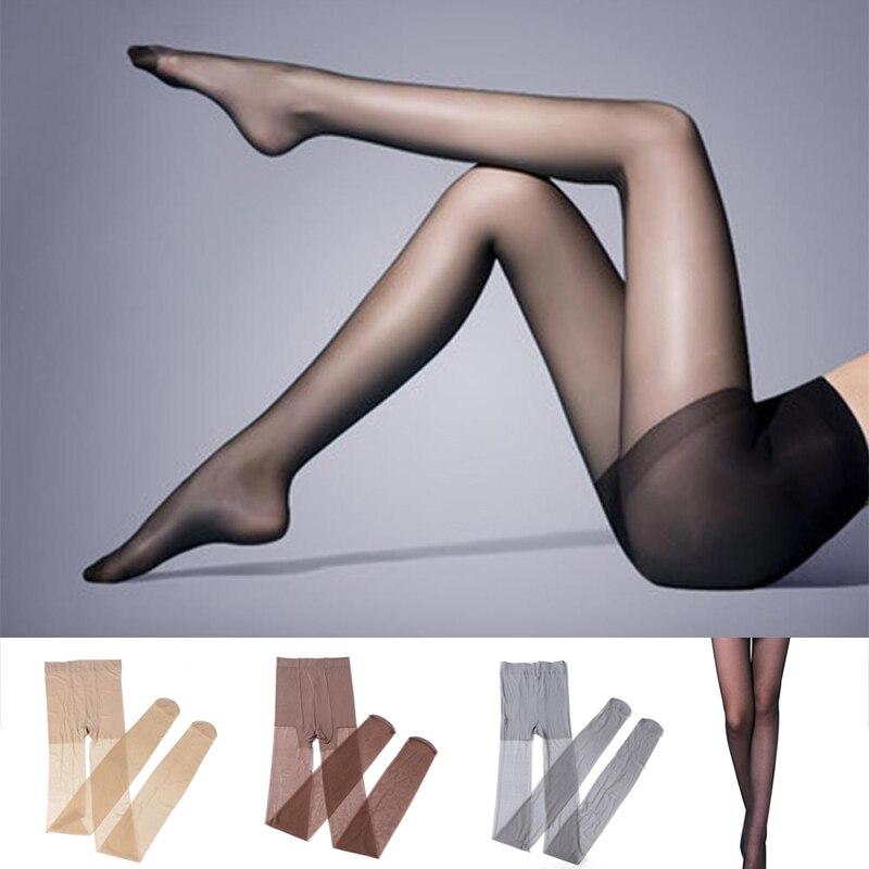 Women 4 Colors Girl Silk Stocking Legs High Hosiery Tights Pantyhose Sexy Nylon Spandex Lady Transparent Thin Female Stockings(China)