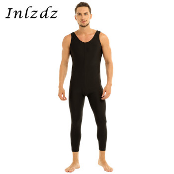 Mens Ballet Leotard Unitard Tight Bodysuit for Dancing Scoop Neck Skin-Tight Vest Male Gymnastics Dancewear - discount item  40% OFF Stage & Dance Wear
