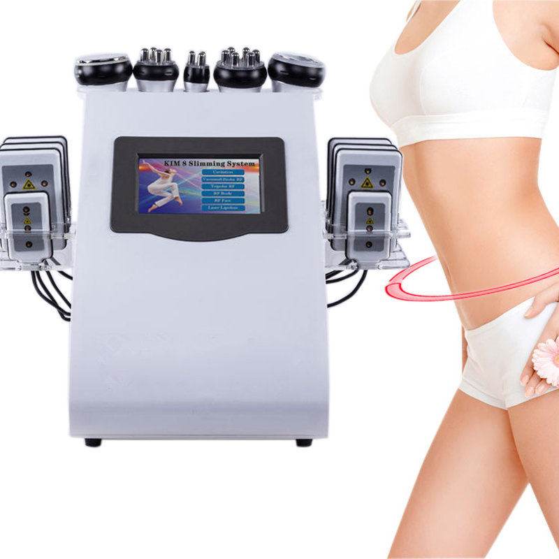 40K 6 in 1 Ultrasound Liposuction Negative Pressure Dual-color Radio Frequency Instrument Laser Weight Loss Fiber Body Machine