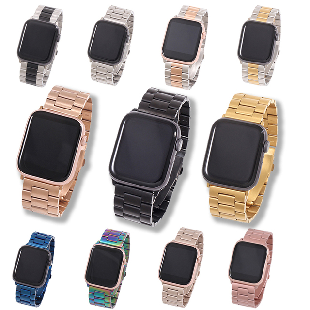 Band For Apple Watch6 5 4 3 2 1 42mm 38mm 40MM 44MM Metal Stainless Steel Watchband Bracelet Strap for iWatch Series Accessories 1