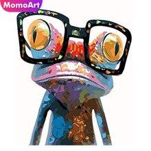 MomoArt Diamond Painting Frog Cute Mosaic Full Drill Square Rhinestone Embroidery Cartoon Home Decor