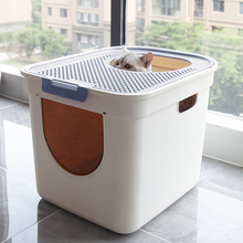 Полностью закрытый от внешних брызг большой размер Топ Тип кошачий Туалет анти-запах полузакрытый кошачий говно-песочница товары для кошек