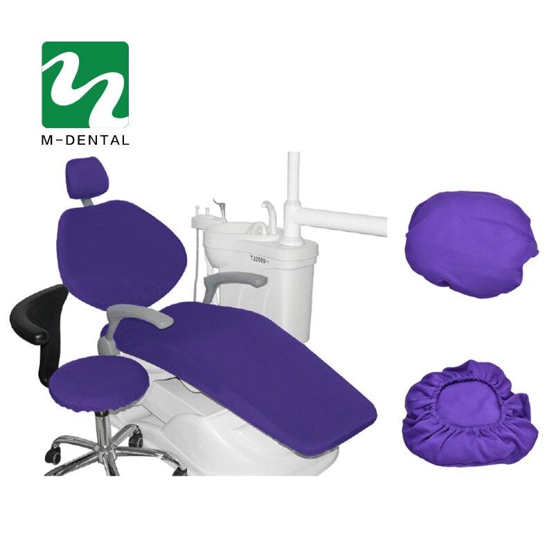 4 шт./компл. высокие эластичные Зубные Блок Чехлы стоматологическое кресло сиденья Защитный чехол Комплект сиденье протектор комплект - Цвет: purple