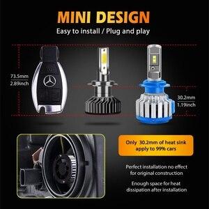 Image 2 - Hillpow farol do carro h7 led h4 h1 h11 h3 h13 h27 880 9006 9007 72w 6500k 12v auto farol cob luz de nevoeiro lâmpada frete grátis