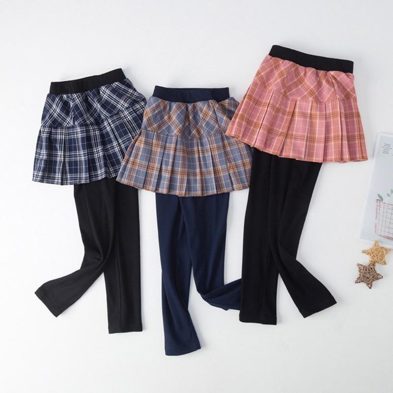 3 8y Musim Semi Pakaian Anak Pakaian Anak Perempuan Celana Lucu Lipit Rok Celana Kurus Legging Kotak Kotak Tutu Rok Celana Musim Dingin Legging Aliexpress