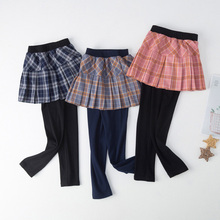 3-8Y Spring Children Clothes Kids Girls Pants Cute Pleated S