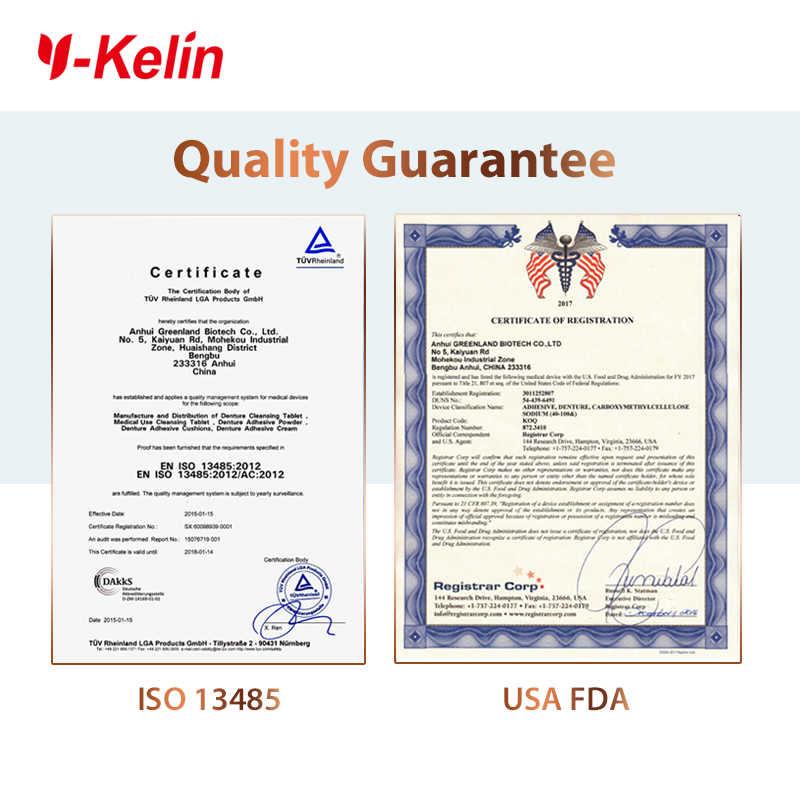 Y-Kelin בשיניים תותבות דבק קרם 10g/0.4oz מדגם גודל כל יום להחזיק שאינו אבץ נוסחה שיניים תותבות דבק
