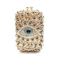 DAIWEI New design clutch evening bags brand designer women purse soiree pochette Rhinestones crystal party clutch bags