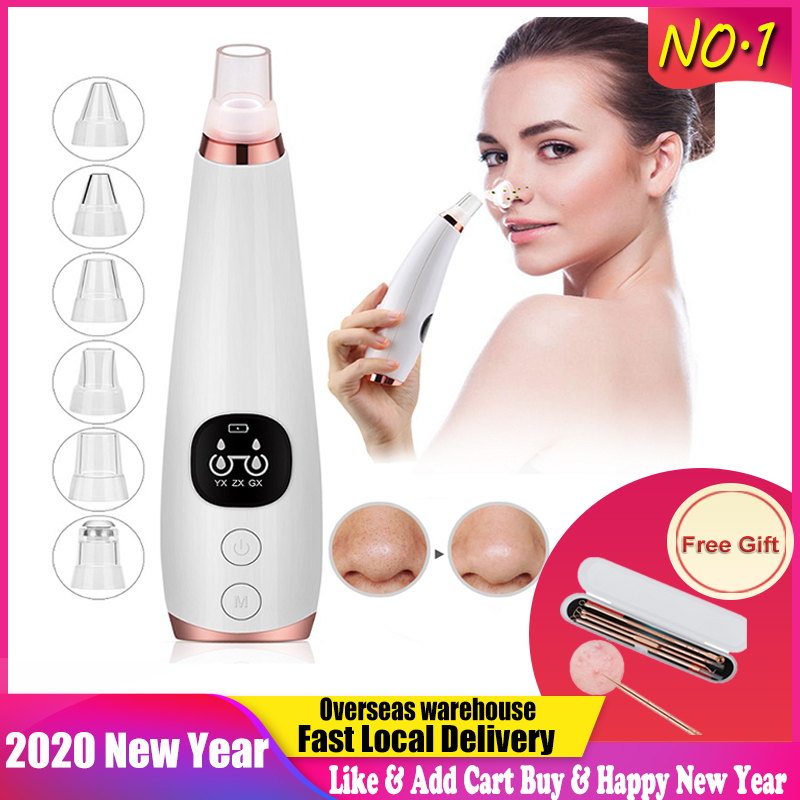 Blackhead Remover Nose T Zone Pore Vacuum Acne Pimple Removal Vacuum Suction Tool Facial Diamond Dermabrasion Machine Face Clean
