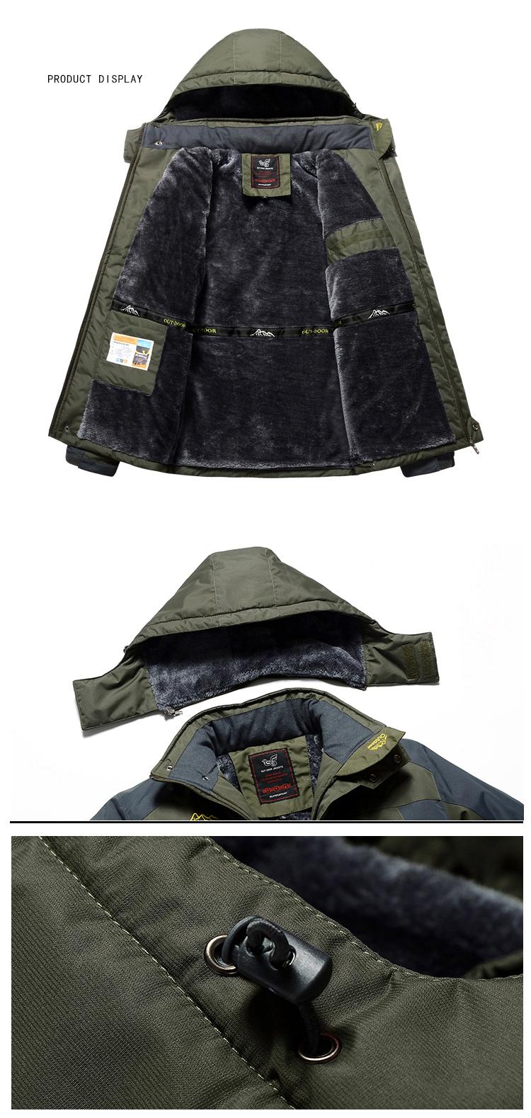 Winter Fleece Military Hiking Jackets Coat (13)