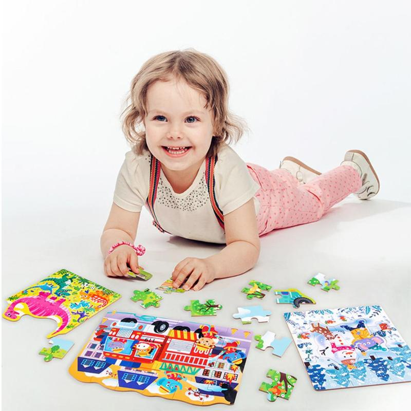 Puzzle Game Baby Jigsaw Children Wooden Educational Toys Cognitive Boards Exercise Practical Ability Color Cognition