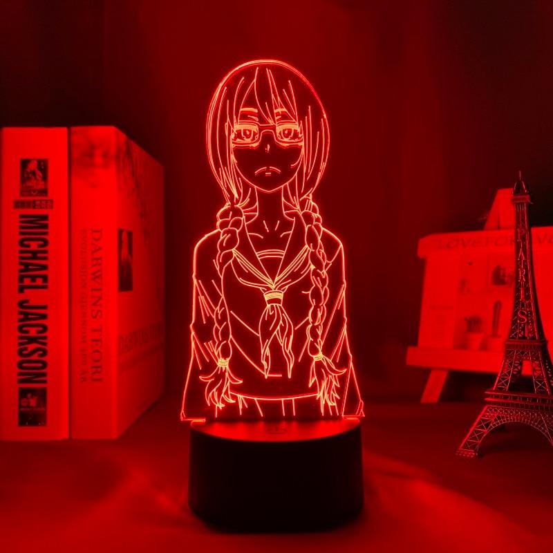 H4f55e48259f14d77a666d21fdc6e5e8cn Luminária Saki yoshida conduziu a luz da noite para o quarto decoração presente nightlight anime lâmpada de mesa 3d saki yoshida