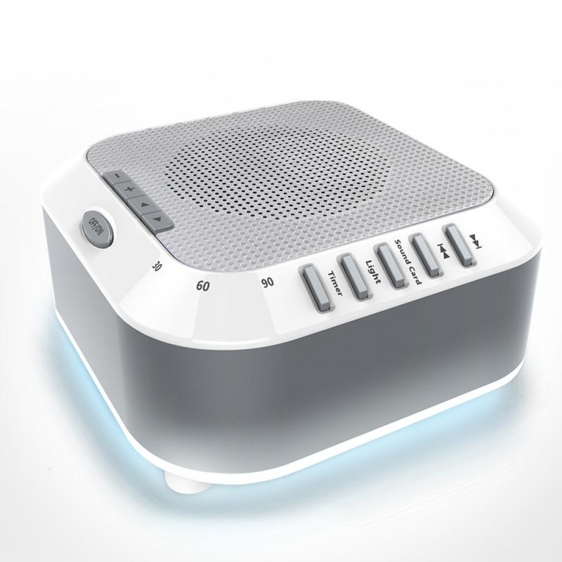 Office White Noise Sleep Sound Machine Ocean Natural Baby Rain Travel Relaxation Soothing Lullaby Nightlight For Kids