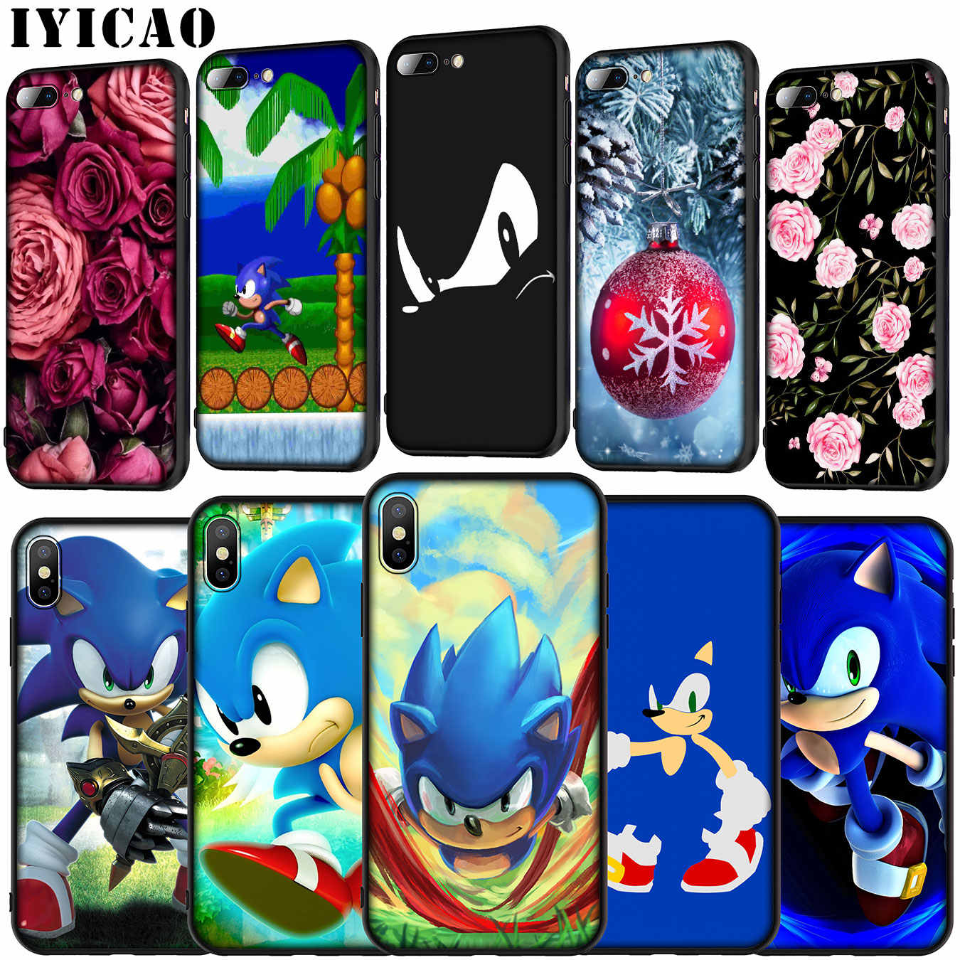 Sonic the Hedgehog Soft Silicone Cover Case for iPhone 11 Pro XR X ...