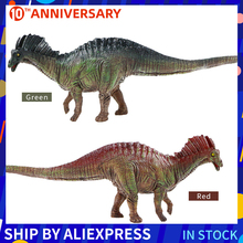 цена на Artificial Model Dinosaur Toys Action Figure Green And Red Amargasaurusr Toys For Kits Gifts Action Play