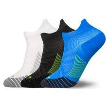 Uomo donna moda calzini da corsa a righe calzini alla caviglia resistenti all'usura ad asciugatura rapida calzini sportivi da uomo a compressione traspirante