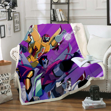 Autobots transformation robot Blanket Design Flannel Fleece Blanket Printed Children Warm Bed Throw Blanket Kids Blanket style-2