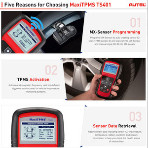 Image 2 - AUTEL MaxiTPMS TS401 TPMS Tool Tyre Pressure Sensor Activator Programmer Receive both 315MHz and 433MHz signals