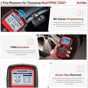 Image 2 - Autel MaxiTPMS TS401 TPMS herramienta OBD2 escáner activar escaneo de Sensor TPMS copia OE ID a Mx de programación Autel TPMS mx Sensor