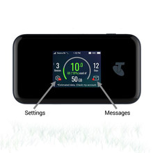 Novo original 5g wi-fi pro zte mu500 redes de ponto quente móvel sub6g 2.4 Polegada tela sensível ao toque de cor até 30 dispositivos 4500mah bateria
