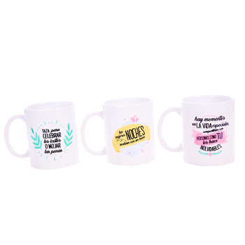 Lot 30 Mugs phrases best wishes-Details and gifts for Weddings, Holy Communion, October birthday and Baptisms