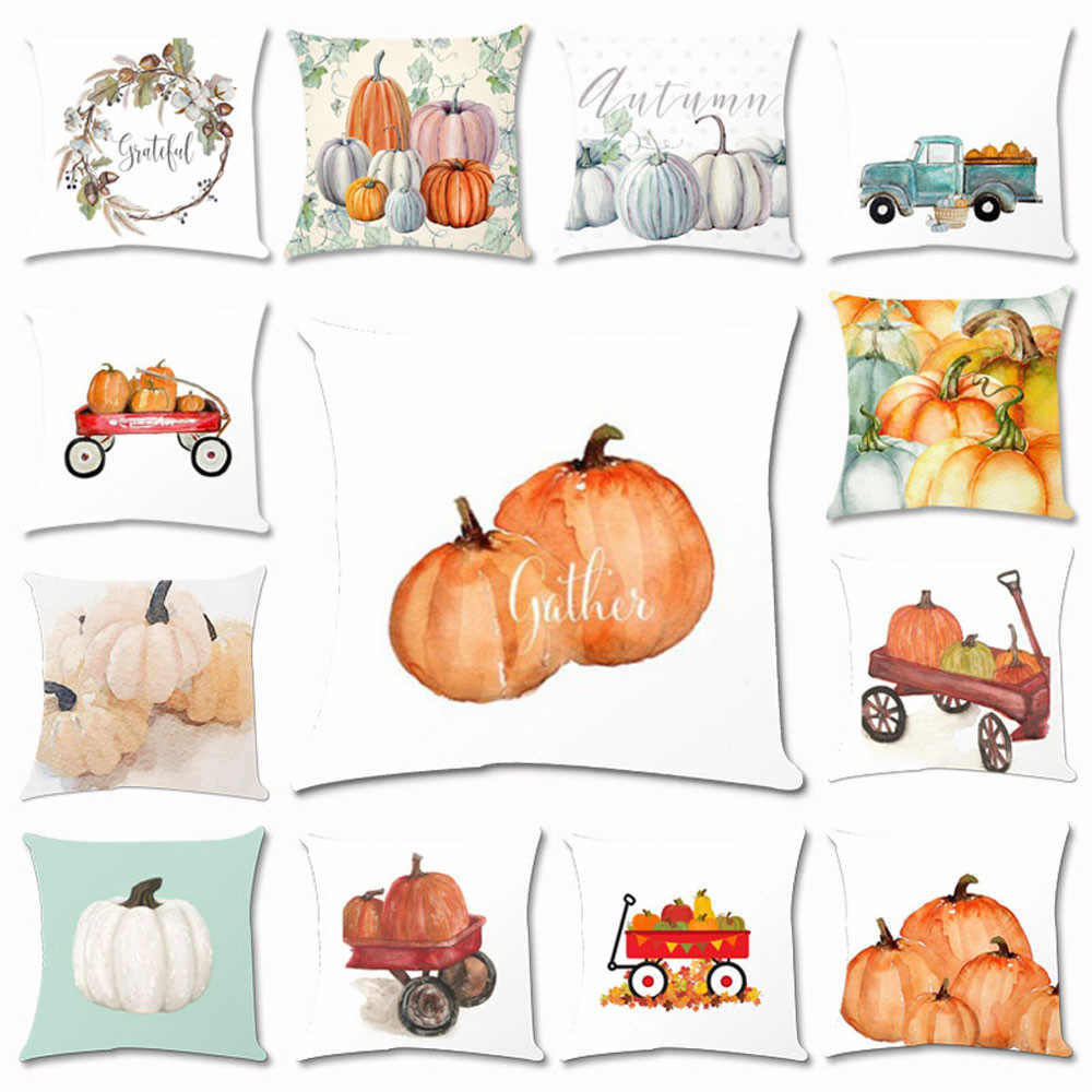 Halloween Pumpkin Square Pillowcover Home Badroom Bed Sofa Car Soft Throw Pillow Case House Festival Decoration Cushion Cover