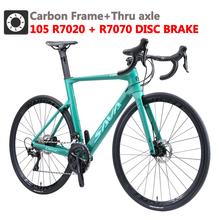 Opony SAVA węgla rower szosowy rama karbonowa drogowego rowerowy hamulec tarczowy rower wyścigowy węgla rowerów rower szosowy z SHIMANO R7070 hamulce hydrauliczne tanie tanio Z włókna węglowego Mężczyzna 21 prędkości 8 5 kg 150 kg 10 kg Nie Amortyzacja Podwójne hamulce tarczowe 160-185 cm