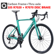 SAVA Carbon road bike Carbon frame Road bike Disc brake Racing Bike Carbon Bicycle road bike with SHIMANO R7070 hydraulic brake cheap Carbon Fibre Male 21 Speed 8 5kg 150kg 10kg Keine Dämpfung Double Disc Brake 160-185cm 0 1 m3 Ordinary Pedal Full Shockingproof Frame